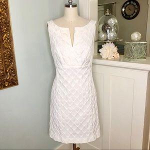 White House Black Market Textured Sleeveless Dress